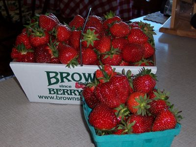 Our strawberries….